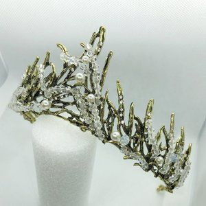 Bronze Crystal Tiara Princess Prom Wedding Bridal